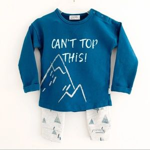 Miles Baby Can't Top This Mountain Outfit Sz18 M